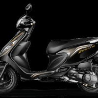Tvs Scooty Zest Color Black