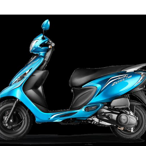 Tvs Scooty Zest Color Blue