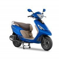 Tvs Scooty Zest Color Matte Blue