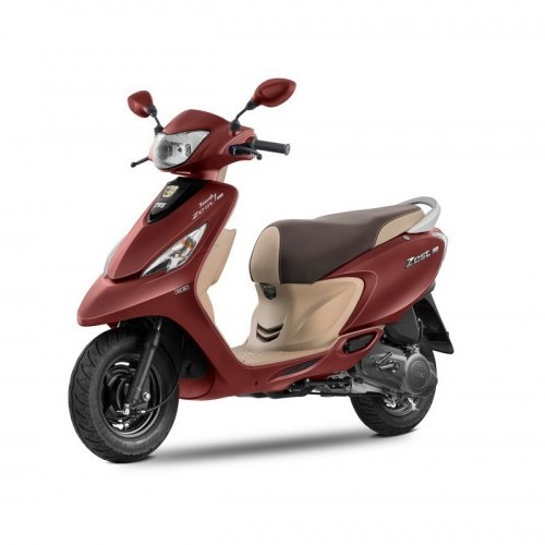 Tvs Scooty Zest Color Matte Red
