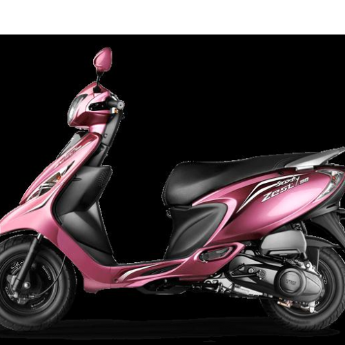 Tvs Scooty Zest Color Pink