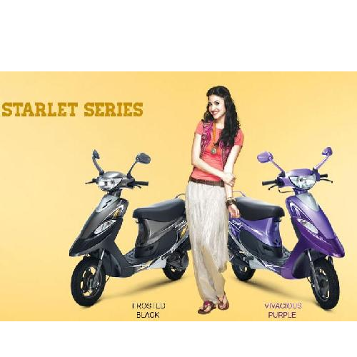 Tvs Scooty Colour Black And Purple