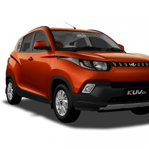 Mahindra Kuv 100 Color Fiery Orange