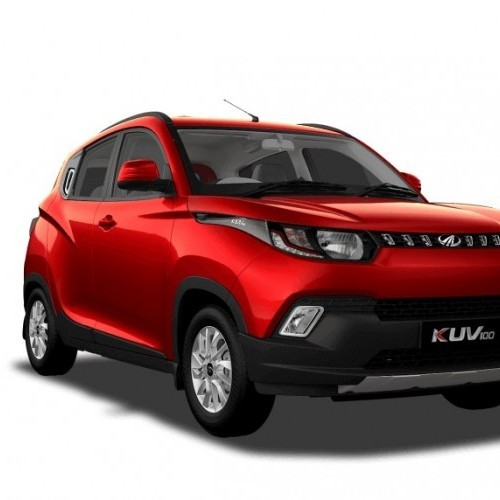Mahindra Kuv 100 Color Flamboyant Red