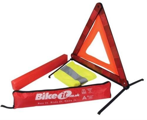 Emergency Warning Triangle and Reflective Vest