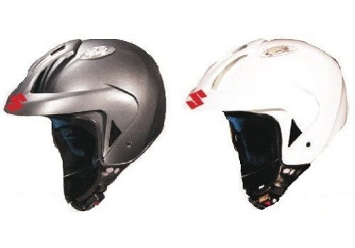 Helmet Open Face Grey, White - M, L