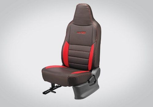 Seat cover Art Leather : Black and Red