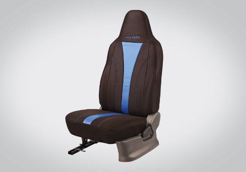Seat cover Fabric : Black and Blue