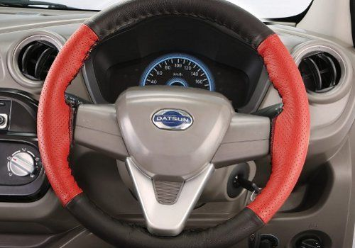 Steering Wheel Cover : Black and Red