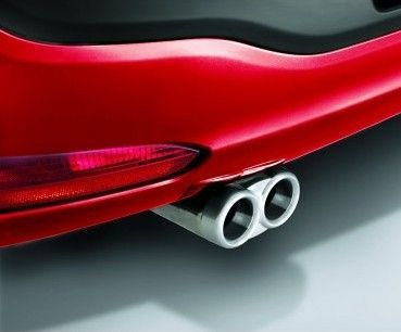 Double Steel Tail Pipe Exhaust End