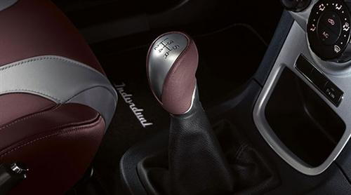 Leather Gear Knob Plum