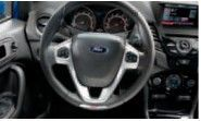 Leather Steering Wheel Audio Controls