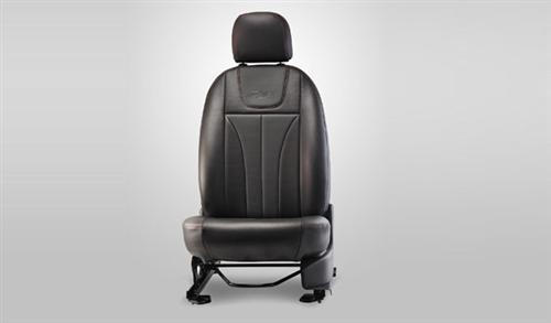 Vinyl Seat Cover Black and Grey