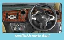 Wood finished interior pannel