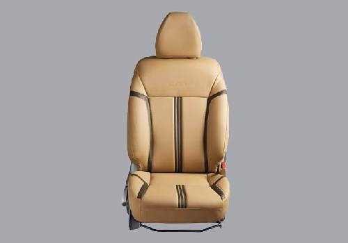 Seat Cover PVC Beige with Black Stripes