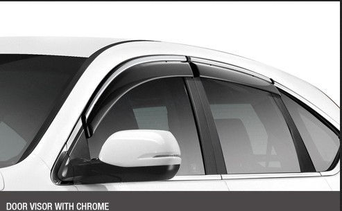 Door Visor with crome