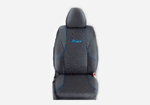 KIT Seat Cover Fabric : Jacquard Black with Blue Stripes