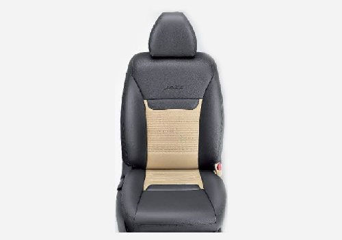 KIT Seat Cover PVC : Black with Beige Horizontal Stitch