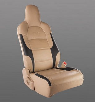 Seat Cover - PVC Black Wings