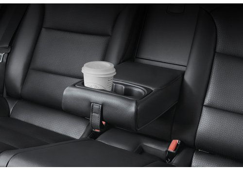 Rear center armrest cup holders