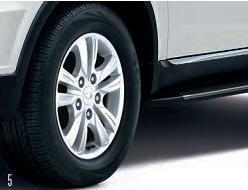 Rexton SUV 10-spoke alloy wheels