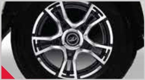 Black Machined Alloy Wheels