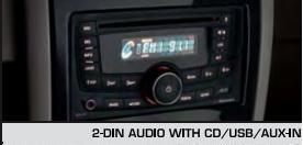 2-Din Audio With Cd Usb Aux-In