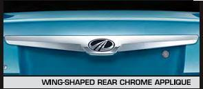 Wing Shaped Rear Chrome Applique