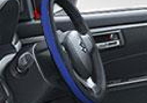 Steering Cover Premium Black/Blue