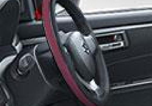 Steering Cover Premium Black/Red
