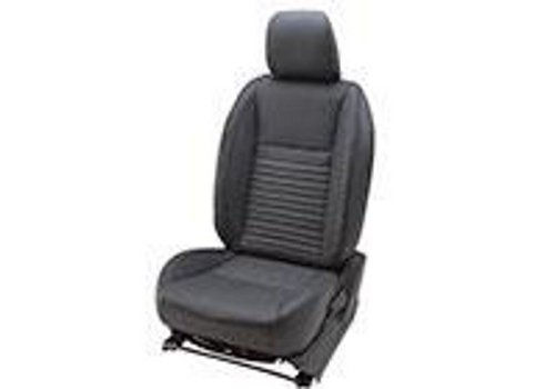 Black Leather Seat Cover