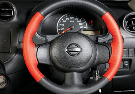 Steering Covers Cover Black Red