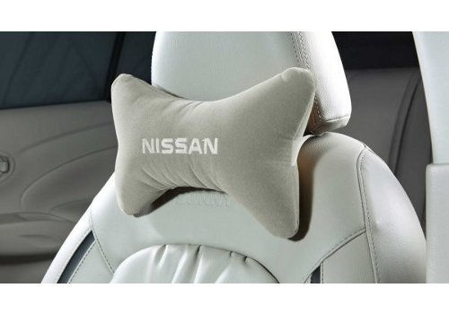 Seat Belt Pad And Neck Pillow Set - Greige