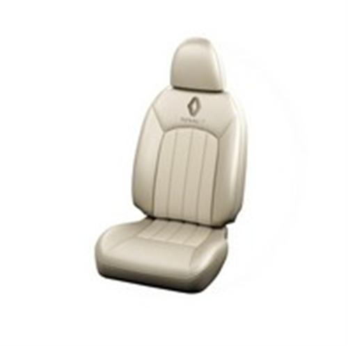 Seat Cover Art Leather Grey-Ivoryaintegrated