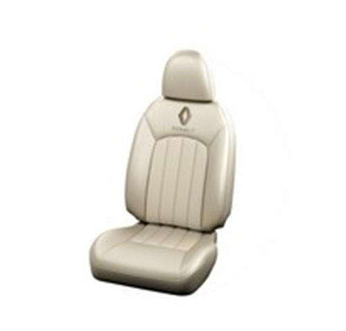Seat Cover Leather - Cream Color Gartering Integrated-Detached