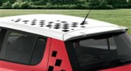 Decorative Fabia Chequered Roof foil Dark
