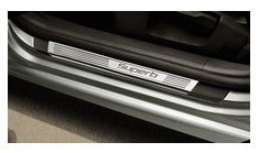 Decorative door sill covers with stainless steel