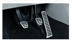 Stainless steel foot pedal covers - Manual