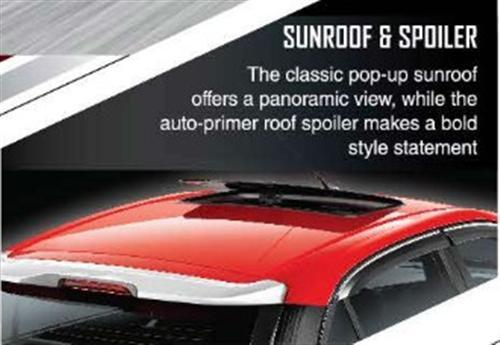 Sunroof and Spoiler