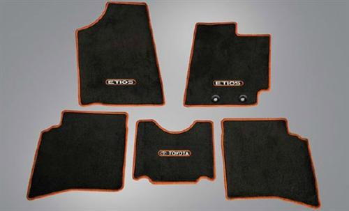 Etios Cross Fabric Floor Mat Greige