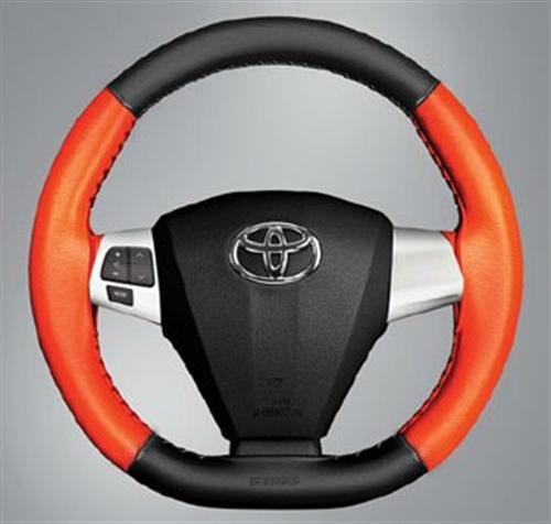 Steering Wheel Cover Black and Orange