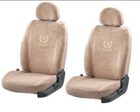 Seat Cover Artificial Leather Ash Brown