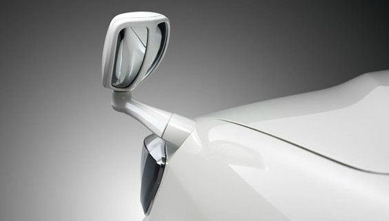 Front Fender Mirror White Color