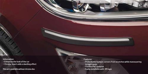Front and Rear Bumper Protector Chrome - Dazzling Protection