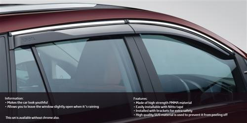Side Visor Chrome - Stylise your Windows