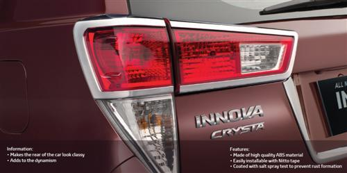 Tail Lamp Chrome Garnish - Heightens the Appeal