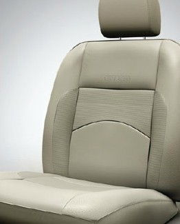 Seat Cover Artificial Leather Black Greige 1