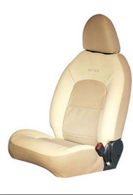 Seat Cover Artificial Leather Black Greige