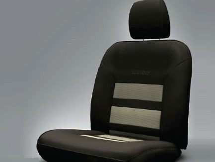 Seat Cover Artificial Leather Black Quick Silver