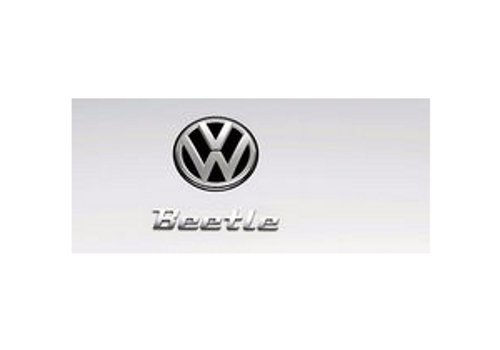 Exterior Beetle lettering - chrome